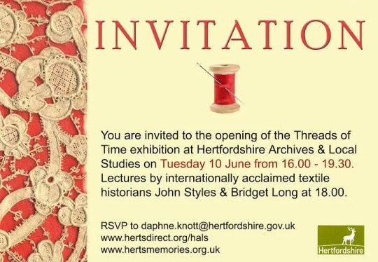 Threads of Time private view and lecture