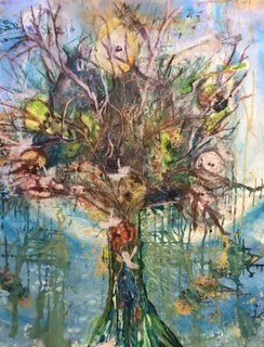 Energy, Tree of Life. Acrylic, ink, pastel and graphite on canvas 162cm x 200cm