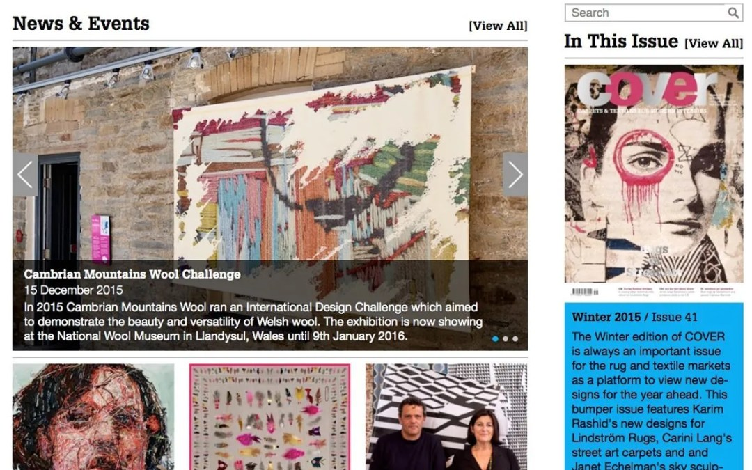Allistair Covell's Digital Stitch featured in COVER magazine