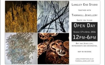 Open Day April 17th at Langley End Studio