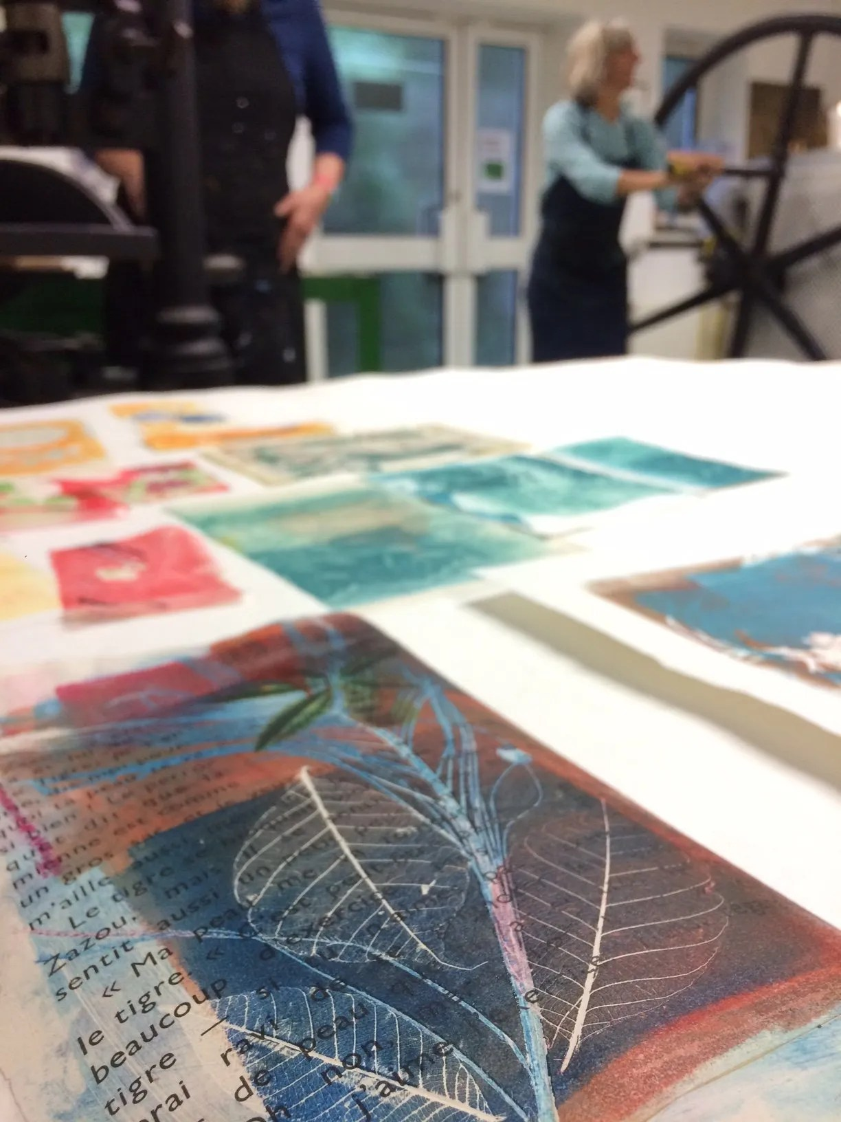 Print and Stitch Workshop – impressive outcomes