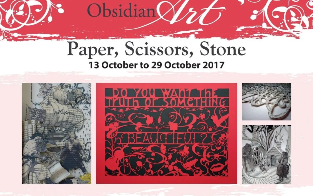 Paper Scissors Stone showing at Obsidian Art, 13th – 29th October.