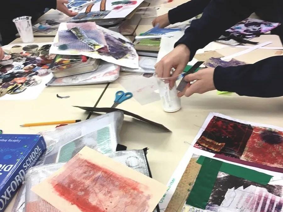 Artists in schools; Art Rebels Pop Up Exhibition