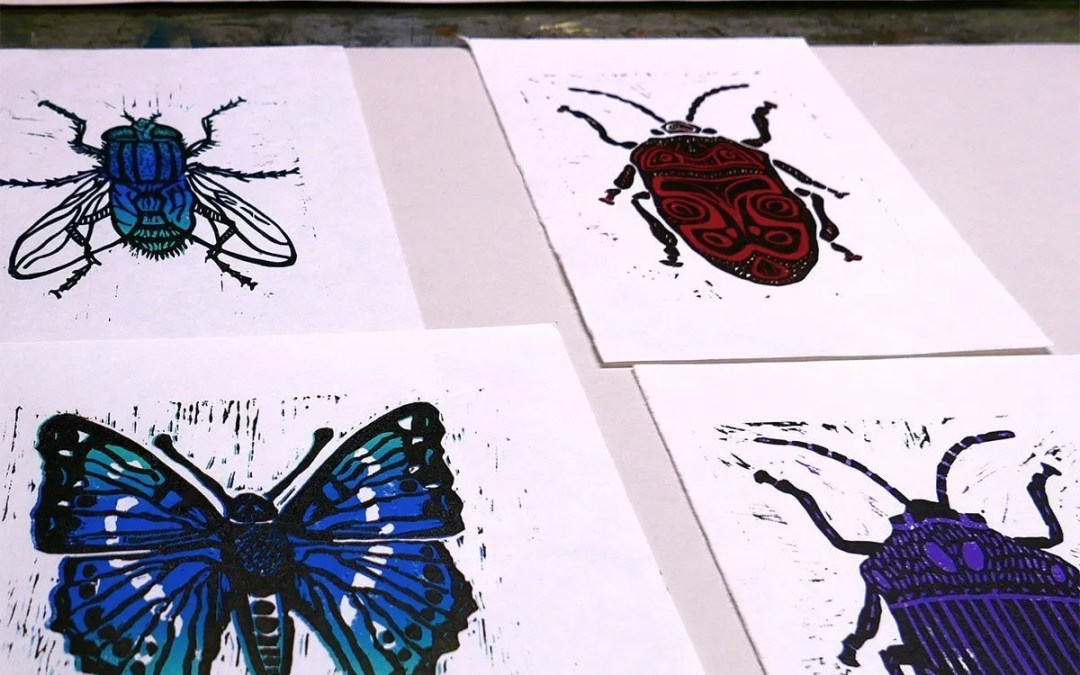 Linocut workshop – Butterflies, Bugs and Beetles