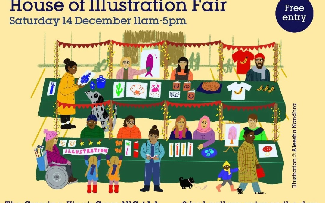 Jonathan Emmerson at House of Illustration Fair this Saturday