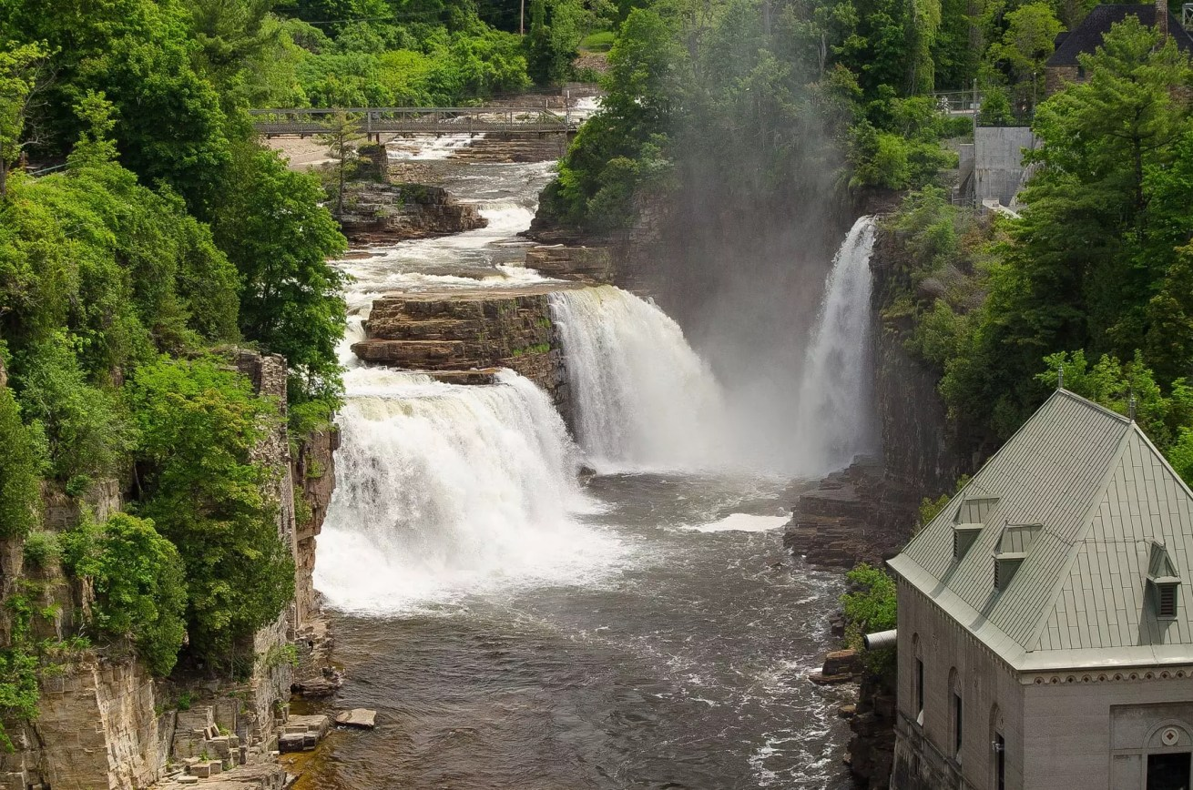 Rainbow Falls at Ausable Chasm