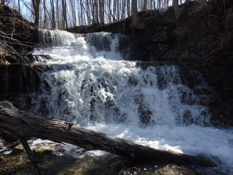Oxbow Falls County Park Waterfall #1, Canastota, Lincoln Town, Madison County, New York