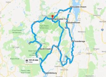 Ultimate Adirondack Waterfall Roadtrip Map