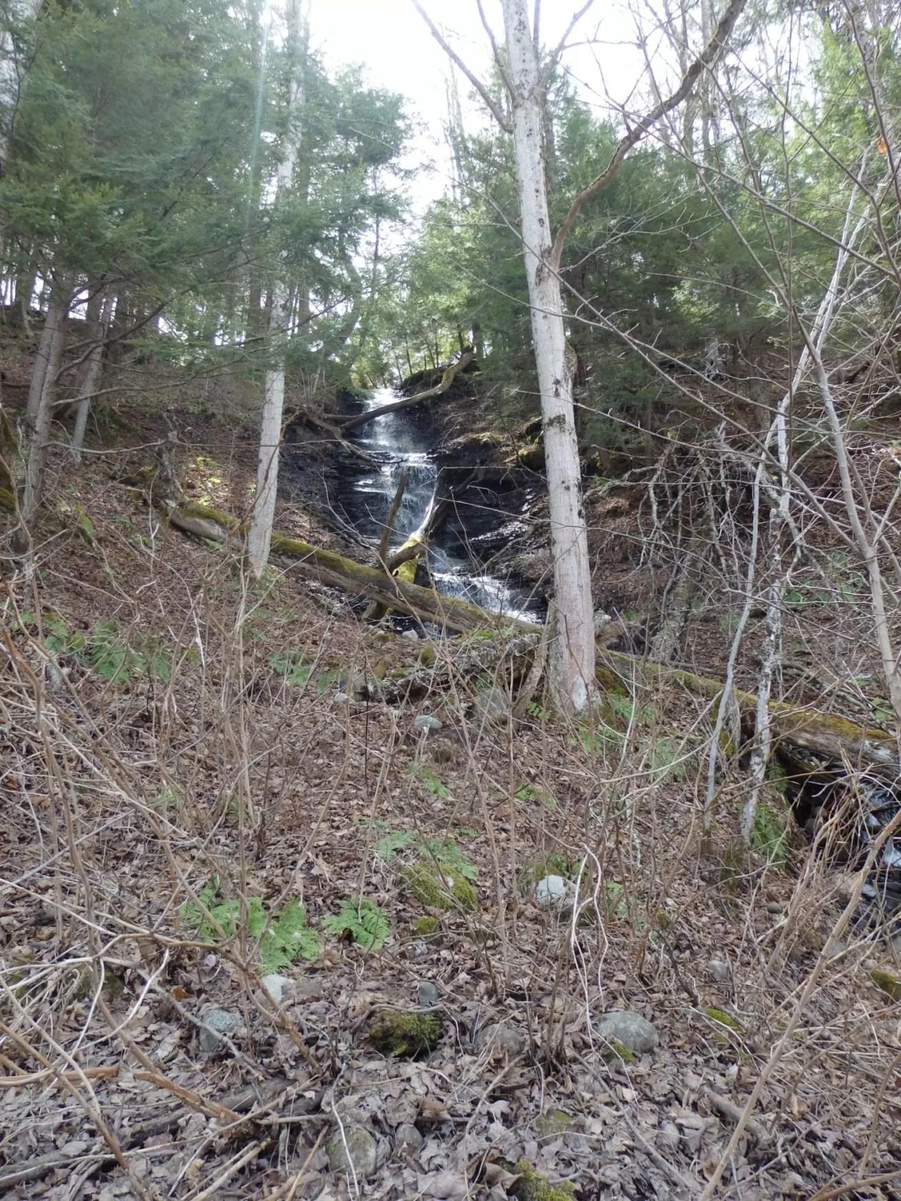 Mohawk River falls on, Western Twn, Oneida County, New York