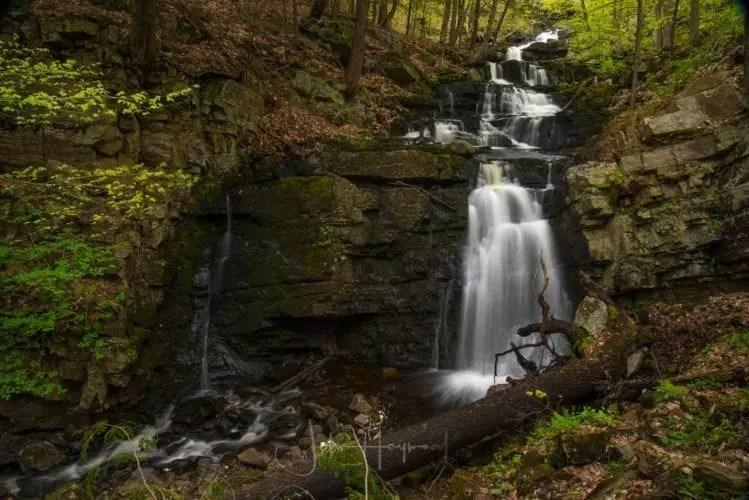 Snook Kill Falls, waterfall, rocks, trees