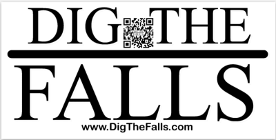 image of dig the falls sticker