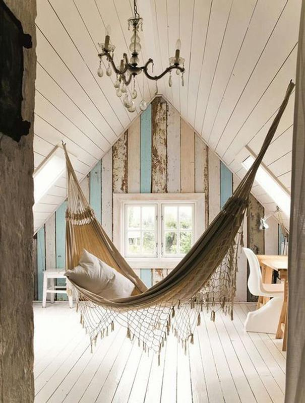 In-Home Hammock - Swinging ceiling hammock designed for attic.