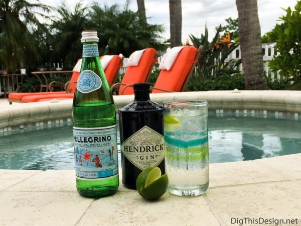Labor Day Cocktail - Gin and Sparkling Water