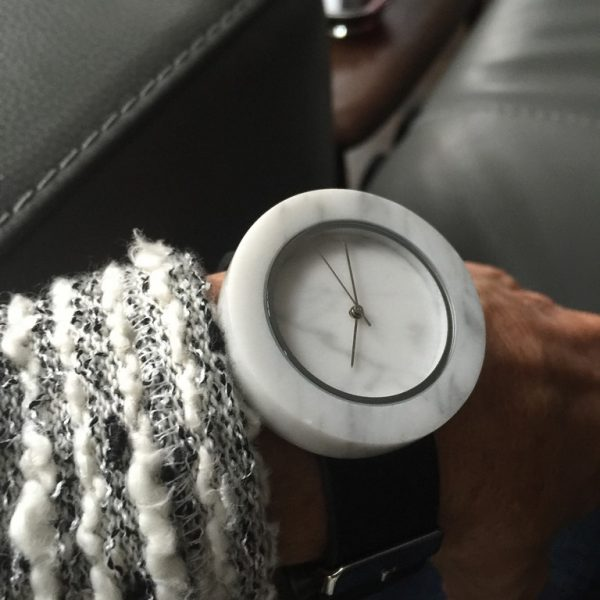 Analog Watch - Marble stone watch.