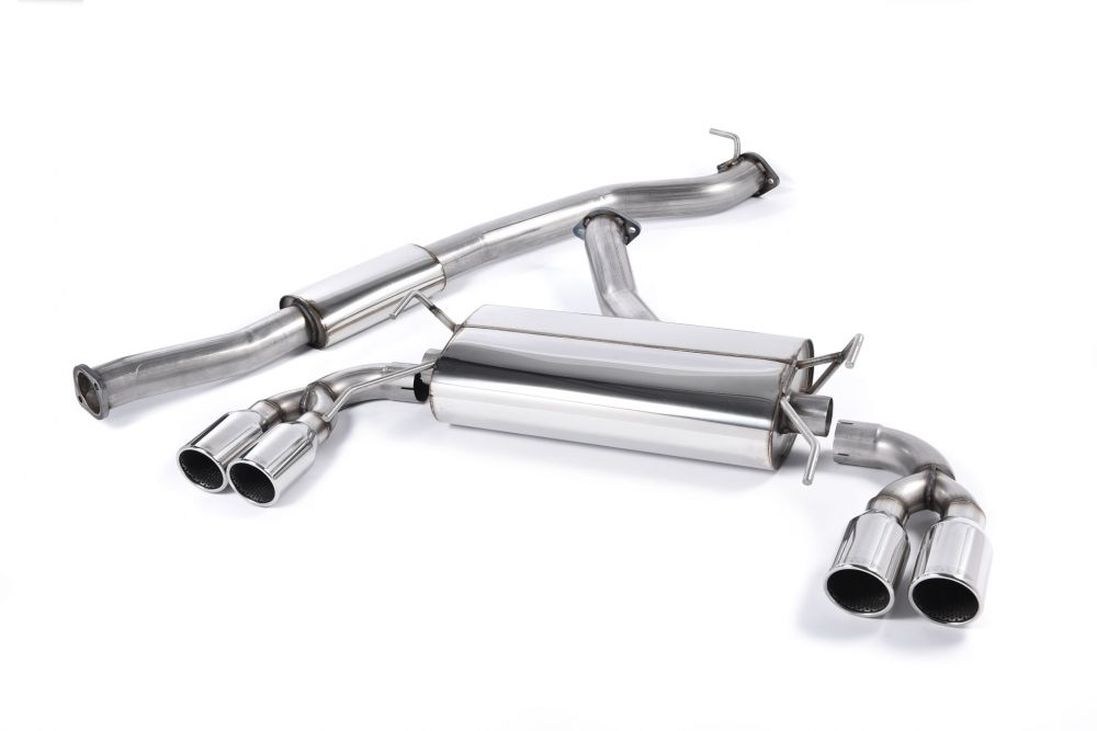 resonated cat back exhaust system