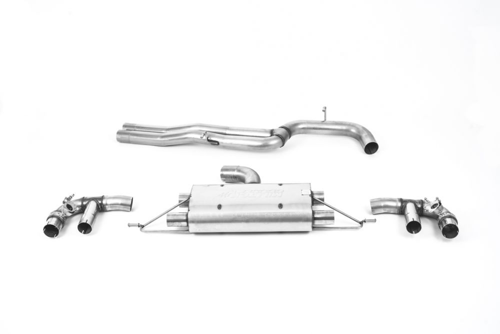 80mm non resonated cat back exhaust system