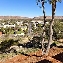 Alice Springs in the middle of Australia