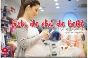 lista de chá de bebê: o que pedir