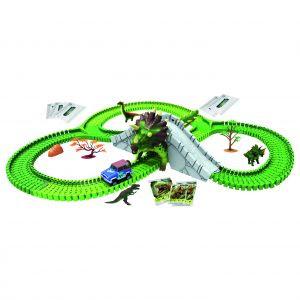 O Dino Mundi apresenta a experiência da tecnologia de realidade aumentada, proporcionando a interação entre o físico e o digital. As crianças podem interagir com os brinquedos e as cartas com imagens dos dinossauros via smartphone ou tablet.