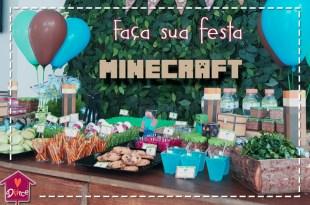 Faça sua festa Minecraft em casa