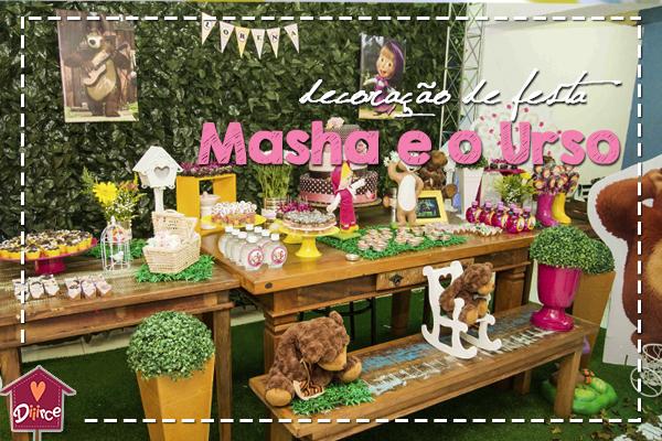 Decoração de festa Masha e o Urso: (quase) Eu que fiz!