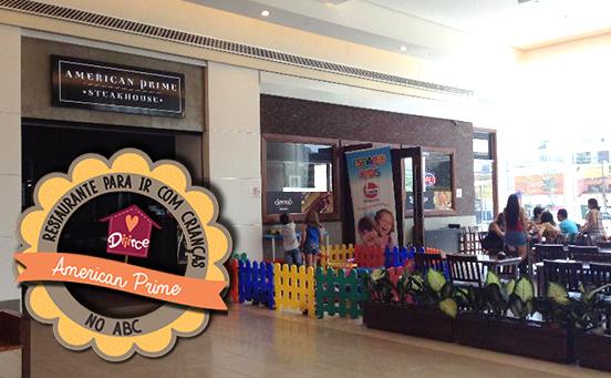 Restaurante com área para criança no ABC