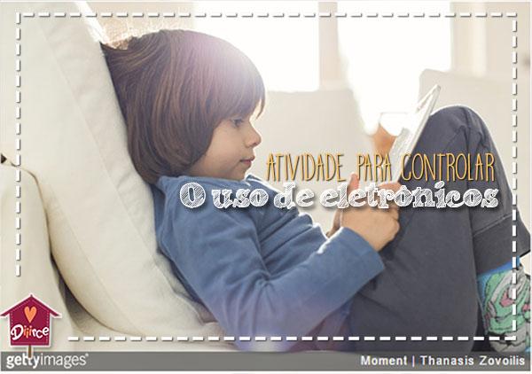 atividade para controlar o uso de eletrônicos