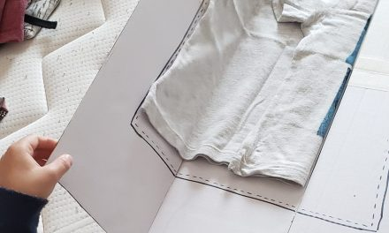 Molde para dobrar camisetas