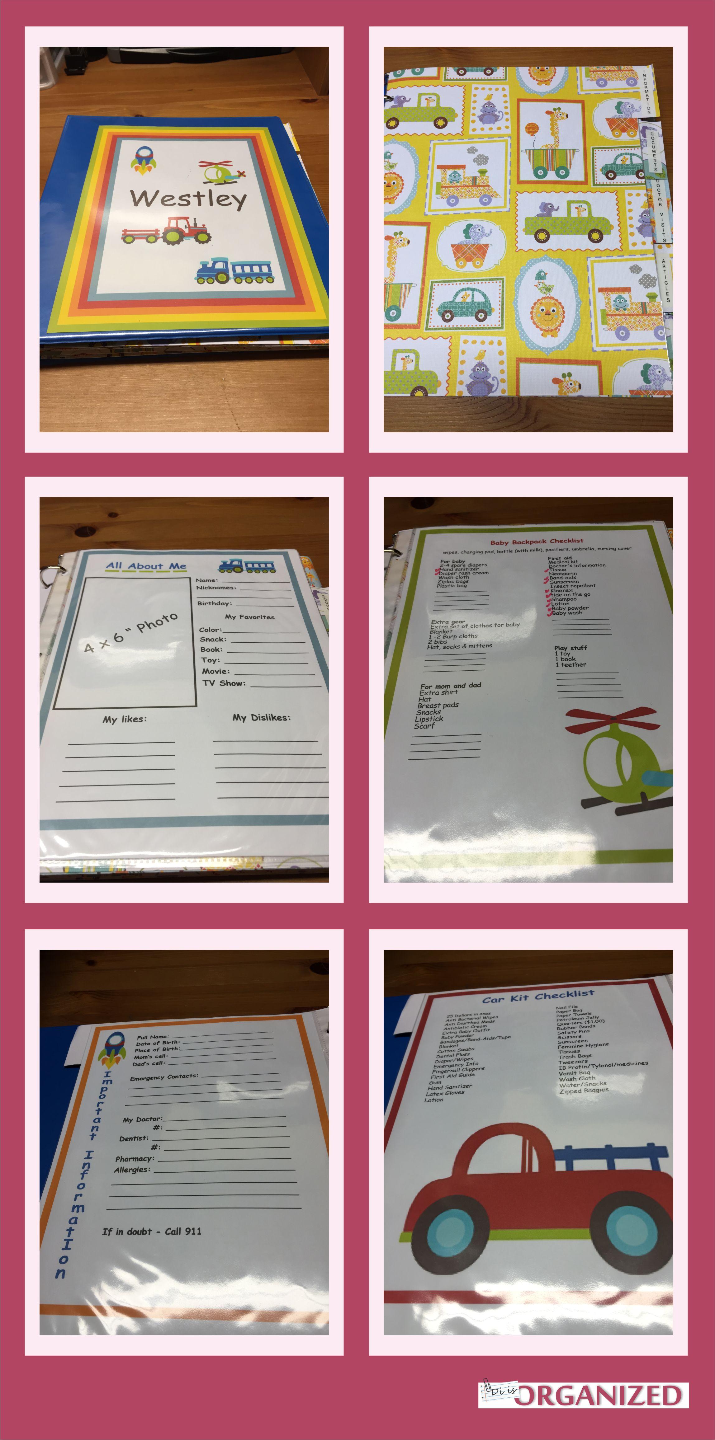 baby document organizer