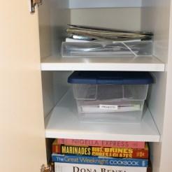 Shelves in the desk