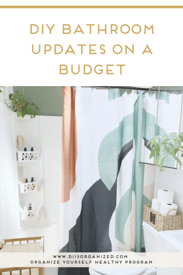DIY BOHO BATHROOM UPDATES ON A BUDGET