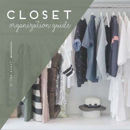 Closet organization guide
