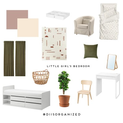STYLED AND ORGANIZED LITTLE GIRL'S BEDROOM - moodboard