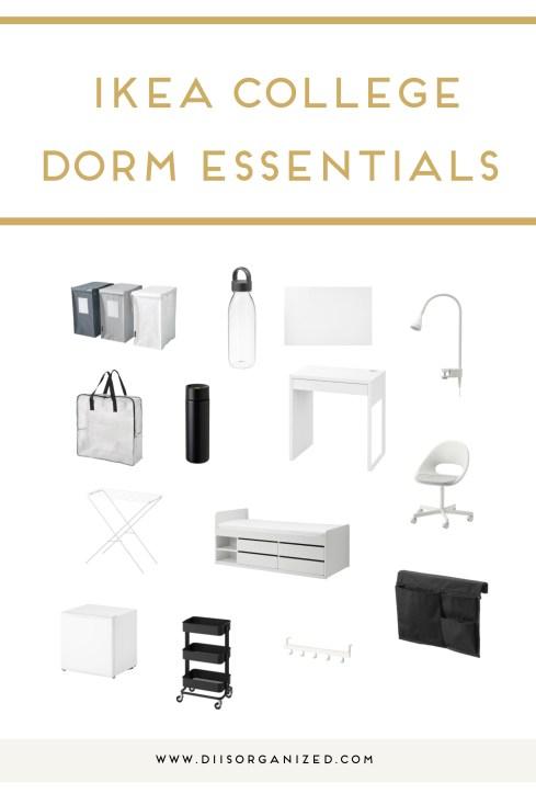 IKEA COLLEGE DORM ROOM ESSENTIALS