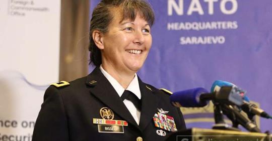 Generalica Bissell: U slučaju eskalacije krize, NATO će pomoći BiH