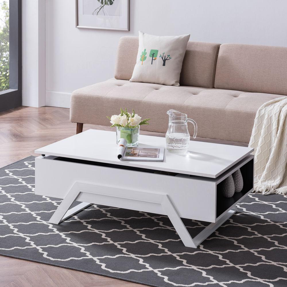 southern enterprises lyra white lift top cocktail table