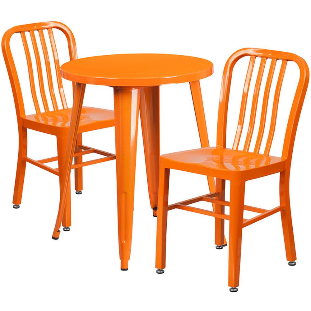 flash furniture 24 round orange metal