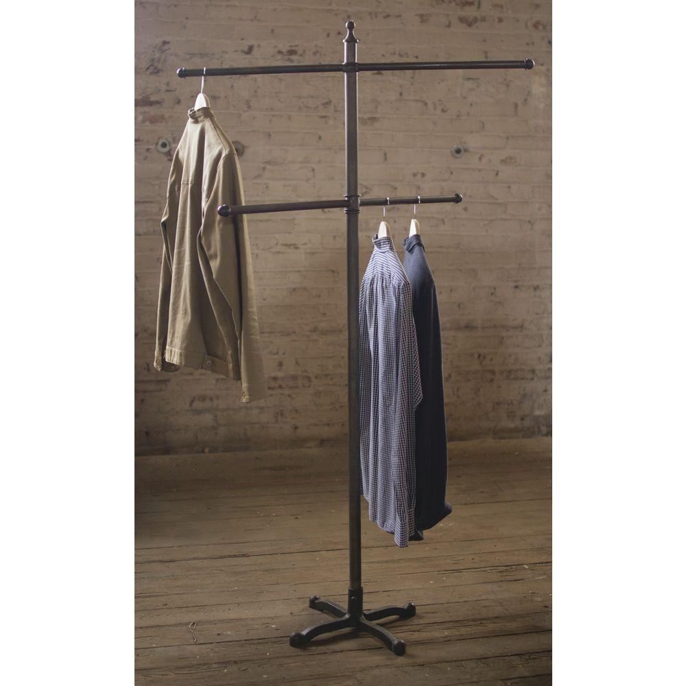 industrial 2 bar garment rack