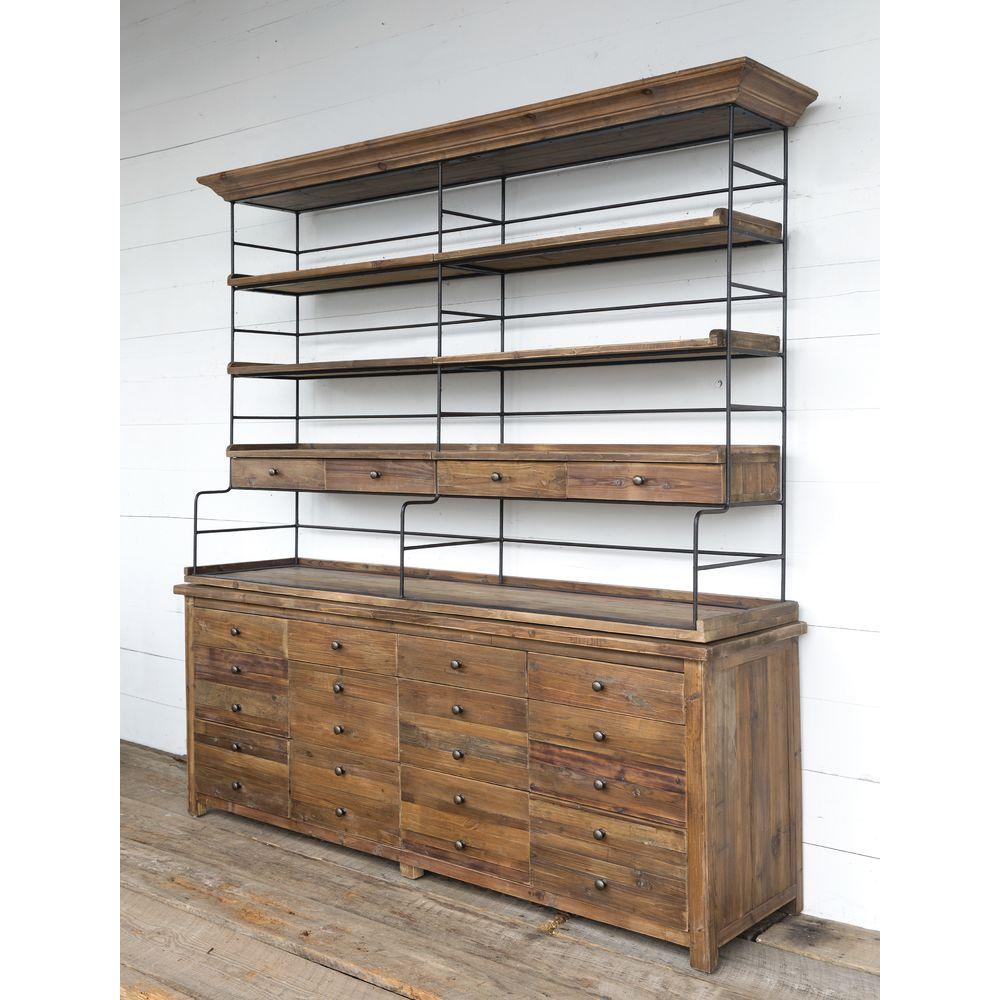double wood iron baker s rack