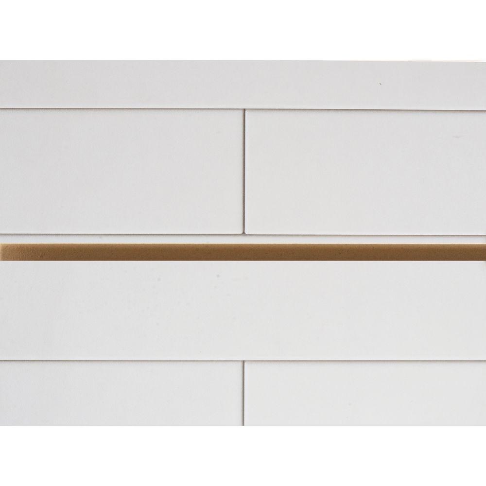 white tile 3d printed slatwall panel 8