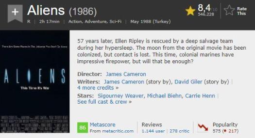 En İyi Aksiyon Filmleri Aliens