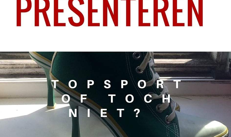 Presenteren is geen topssport, het is het hebben van een goed gesprek