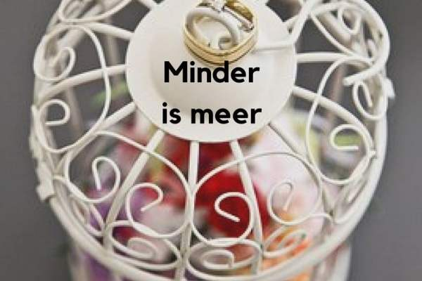 Minder is meer. Dus 'Keep it simple' als je presenteert