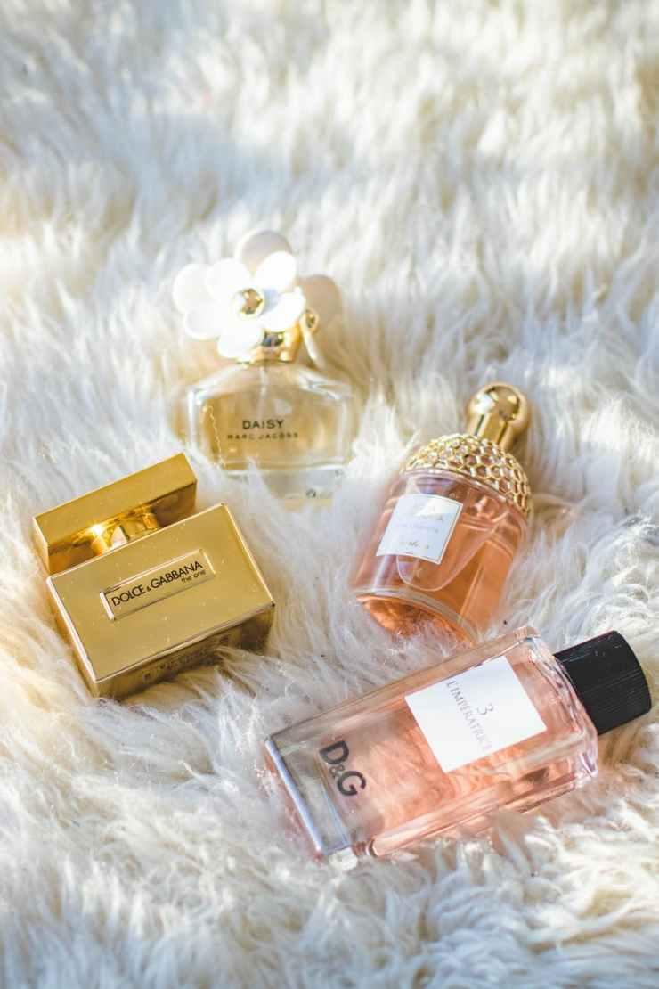 assorted dolce gabbana fragrance bottles