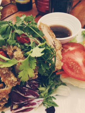Tempura Chicken Salad