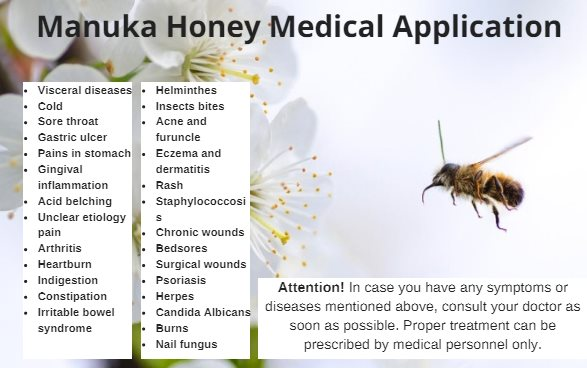 Manuka honey medical application