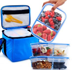 052a8870bed6 BergKoch – Best Lunch Bag with Glass Containers. BergKoch 3 Pack of Glass  Containers Review