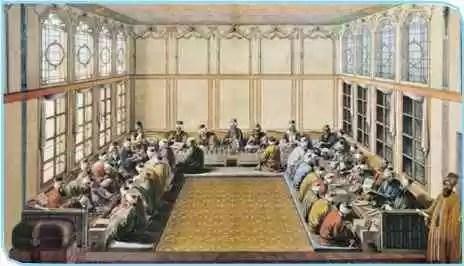 Divan katiplerinin çalışmaları ile ilgili temsili resim