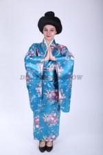 33644. Японское кимоно голубое