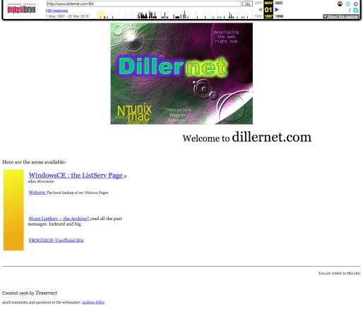 Dillernet WebPage 1997 05 01 forweb